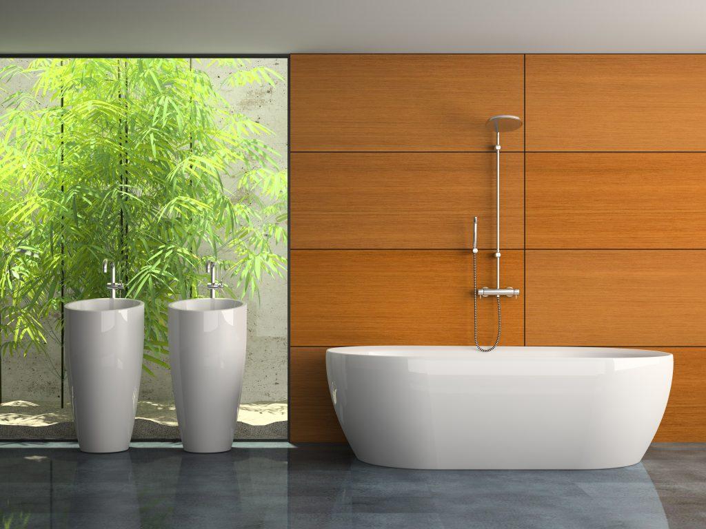 Moderne baderom uten fliser